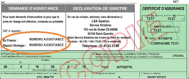 numéro carte verte constat Comment puis je contacter mon assistance auto ? – Aide Assurpeople.com